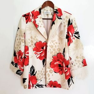 Alfred Dunner | 10 Womens floral Open Front Blazer